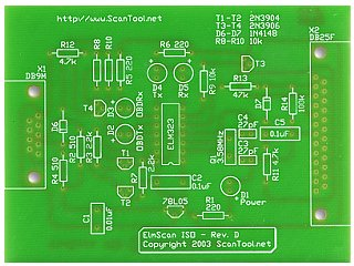 Leiterplatte für den Artikel \'IC ELM323\' - KDS OnlineShop